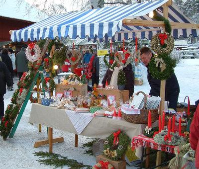 Foto från Julmarknad på Högbo Bruk