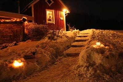 Foto från Jul på Öströö Fårfarm