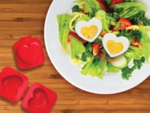 hjärtformade ägg