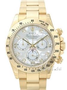 Rolex-klocka med gulddetaljer