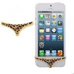 leopardmönstrad tanga till sin iphone