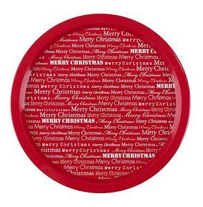 Röd köksbricka med julbudskap