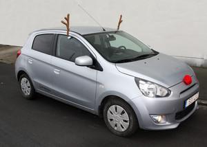 Rudolfs renhorn till bilen