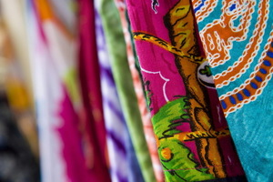 En sarong eller stort tygstycke