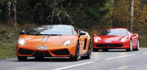Kör Ferrari/Lamborghini 10 min Stockholm